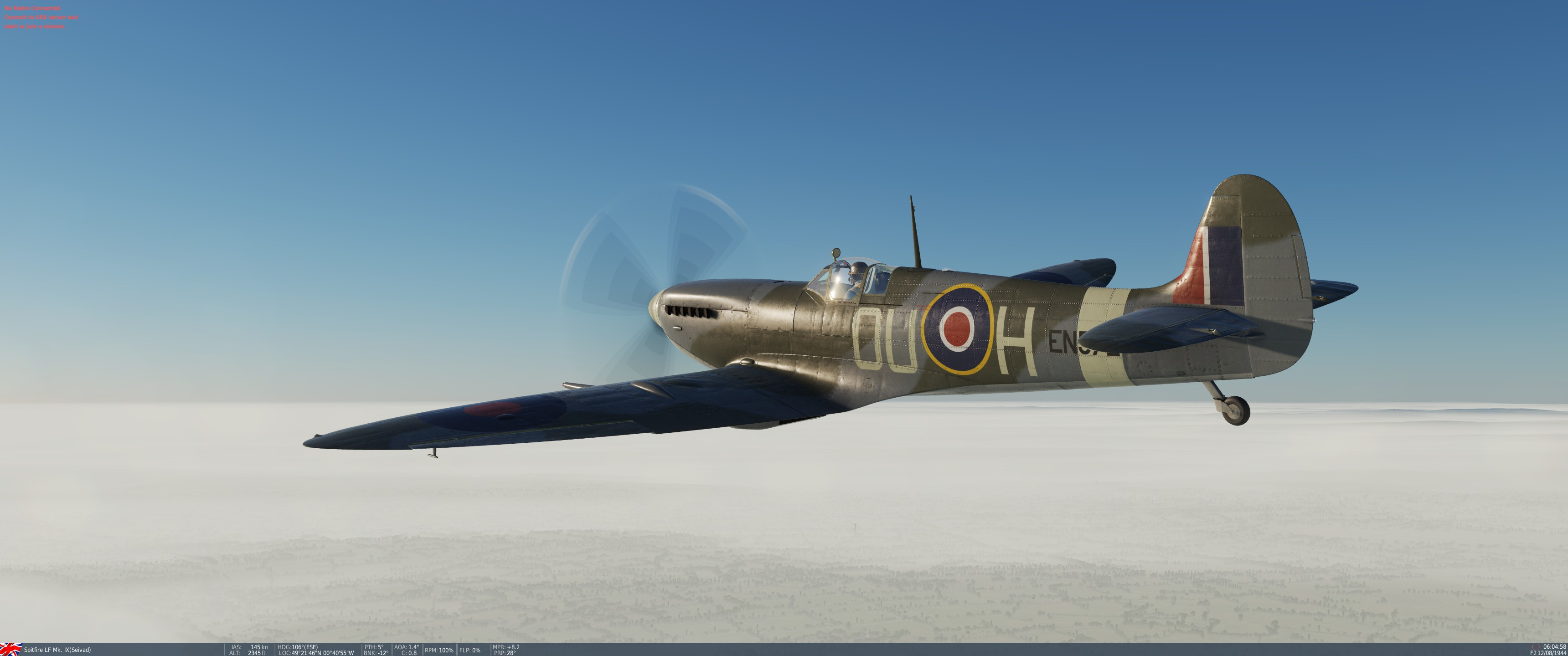 Spitfire Mk.IX, EN572, S/L Johnny Checketts, 485 Squadron (NZ) March 1943
