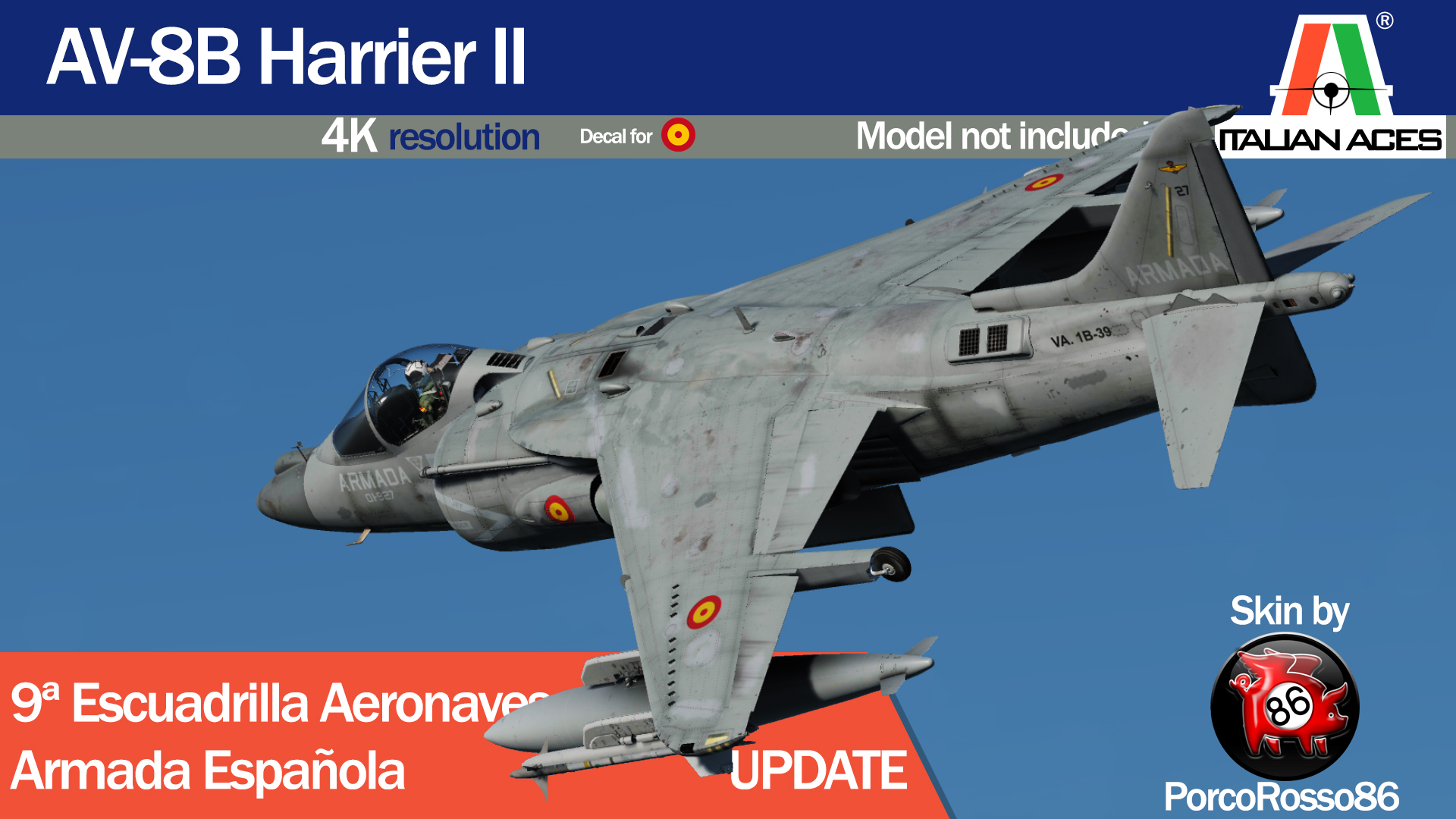 AV-8B Harrier II 9a Escuadrilla Aeronaves UPDATE