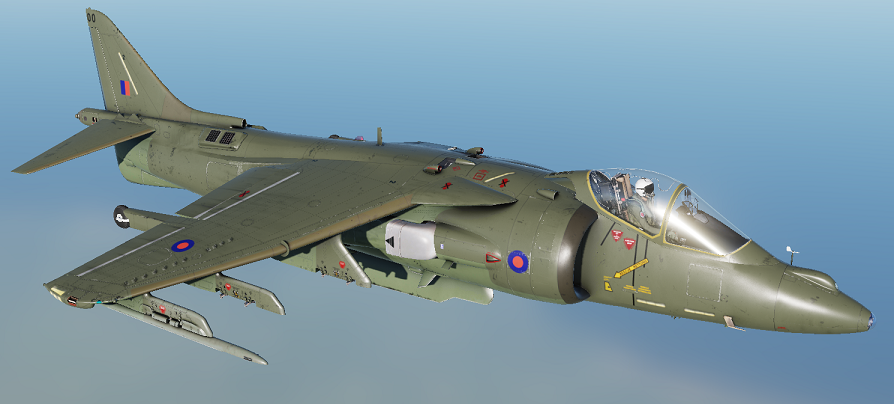 Royal Air Force 1987-1995 style (Two-Tone Green) skin pack for AV-8B N/A