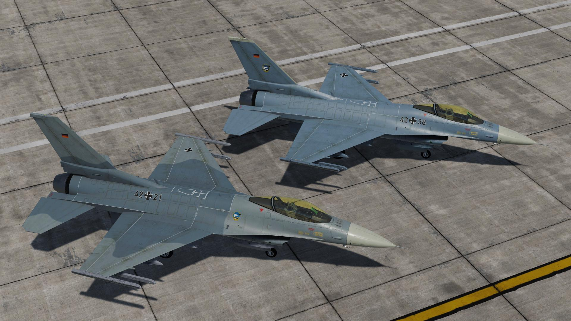 German Air Force F-16C Skin Pack (fictional)