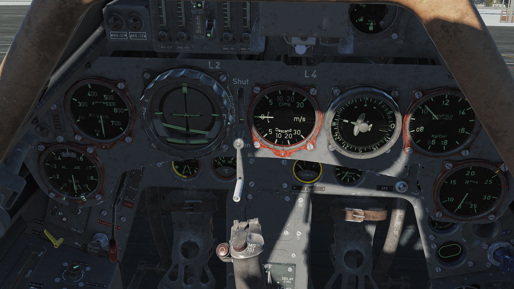 Focke-Wulf Fw 190 A-8 English Cockpit [METRIC]