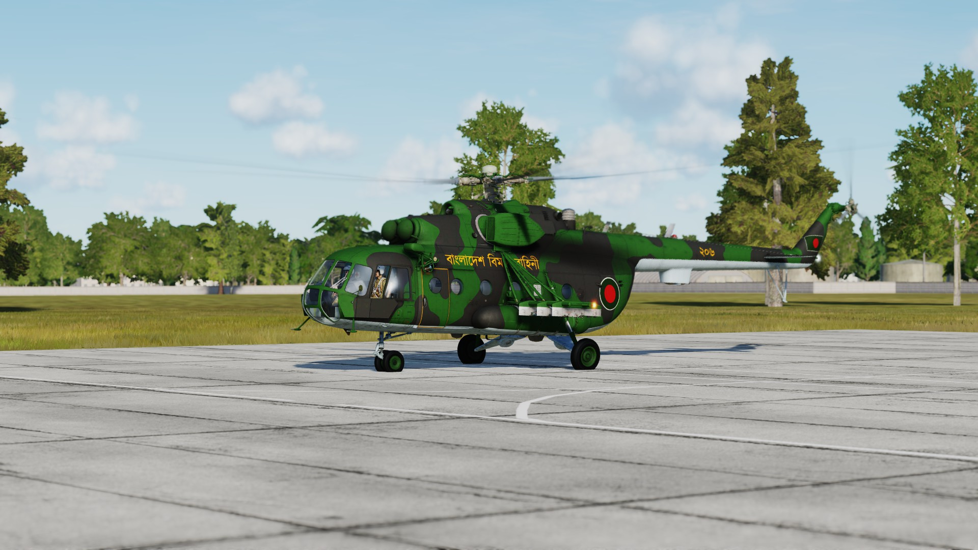 Bangladesh Air Force Mi-17 (Dark) updated