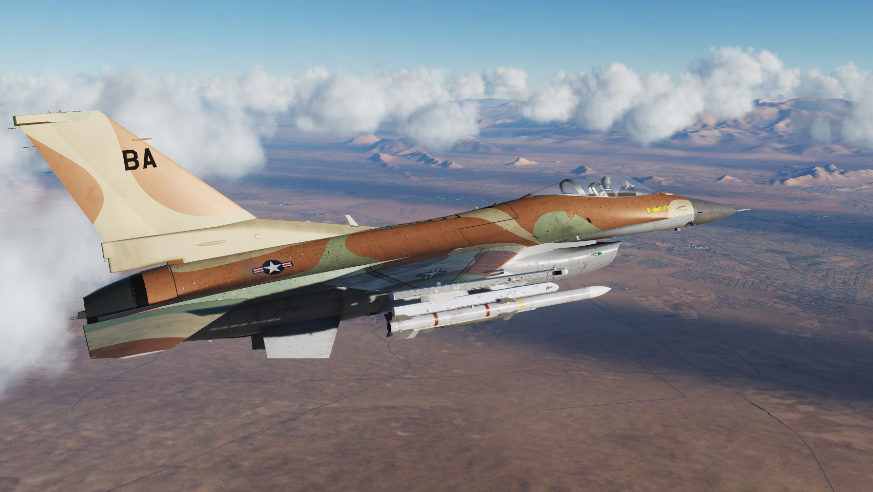 Iron Eagle F-16 - skin as seen on Chappy's and Doug's F-16