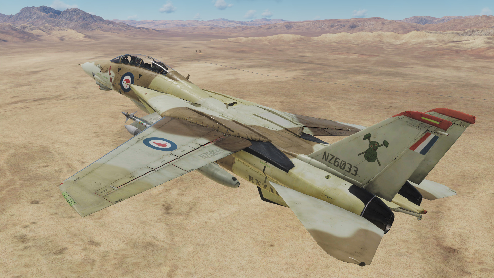 Fictional RNZAF (Royal New Zealand Airforce) F-14B - 75 Squadron - Desert Skin