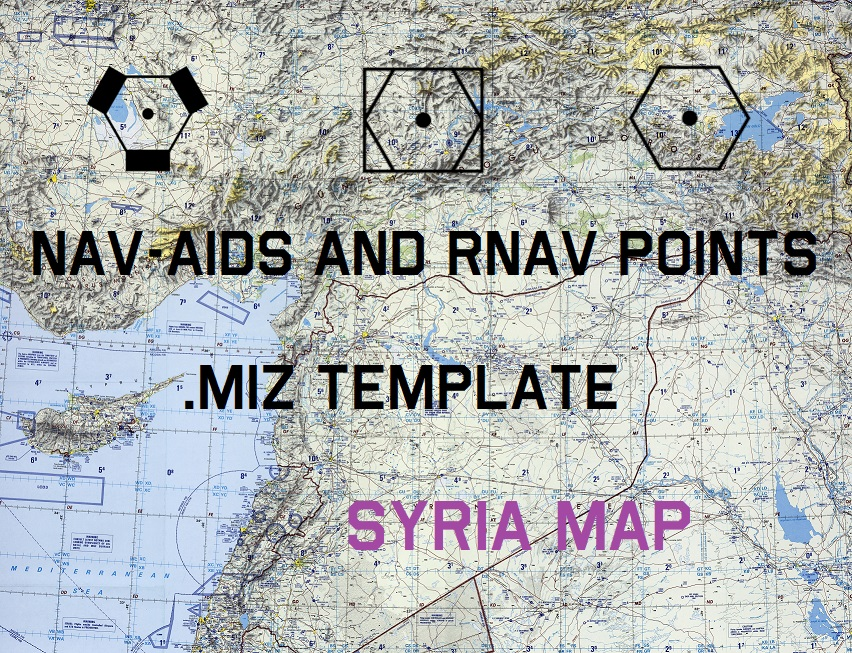 Nav-Aids, RNAV (SID-STAR and approach) points for Syria Map v1.6