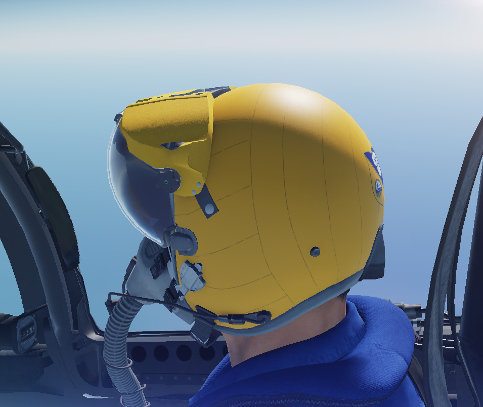 Updated F/A-18C Blue Angels Helmet