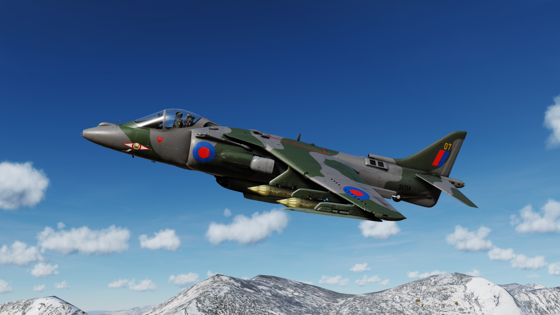 RAF Harrier GR3 skins - No 1 and 4 Squadrons
