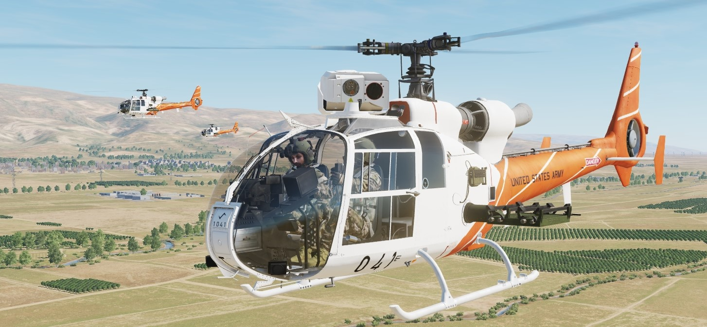 SA342 Gazelle US Army Helicopter Trainer (Fictional)