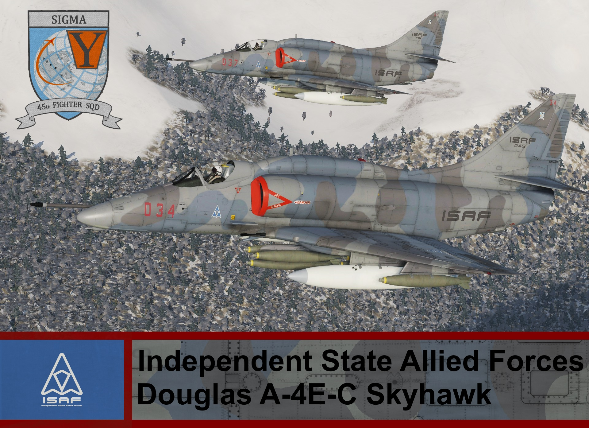 Independent State Allied Forces A-4E-C Skyhawk - Ace Combat 4