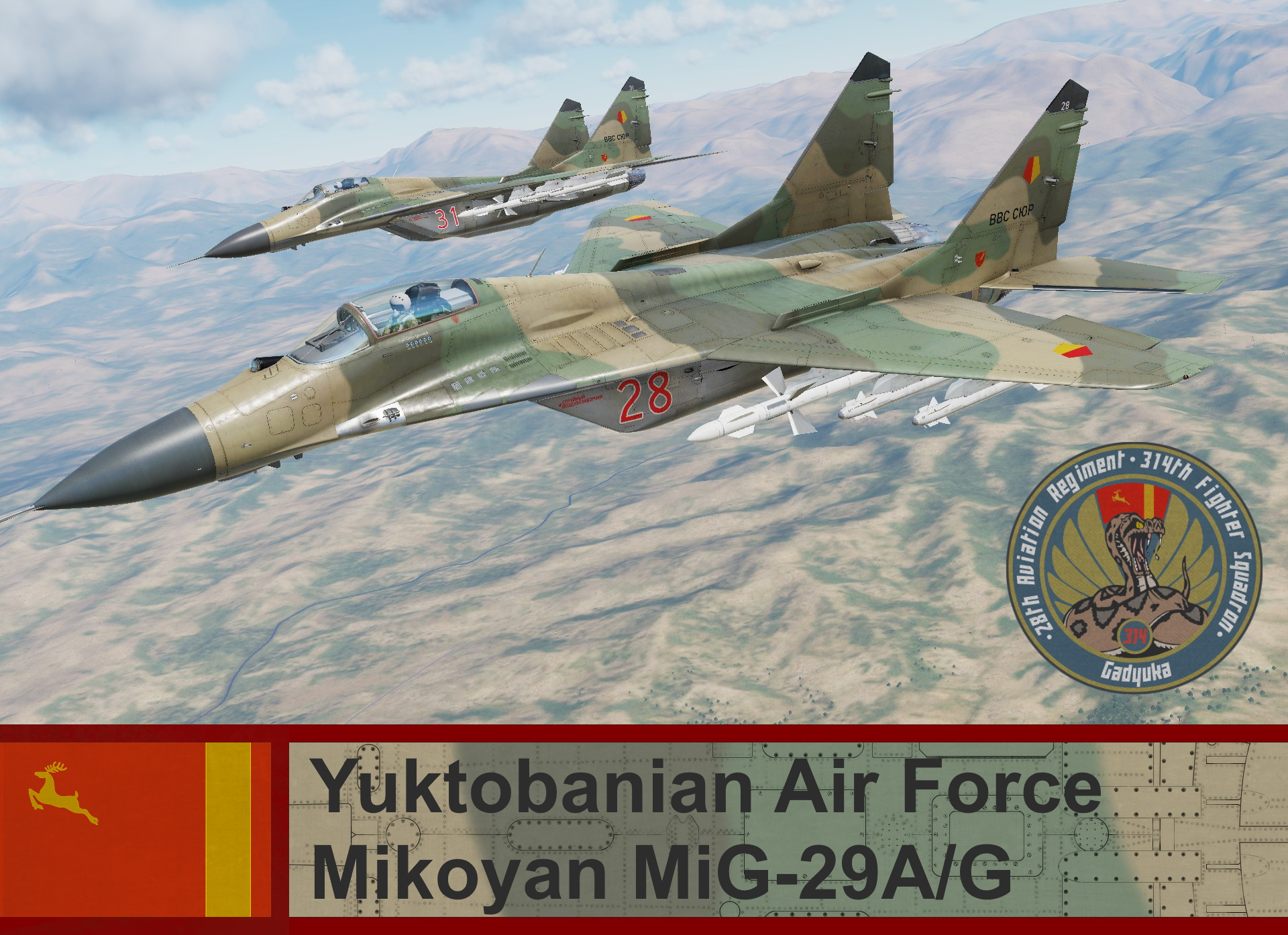 Yuktobanian Air Force Mig-29A/G - Ace Combat 5 (314th Fighter Squadron)