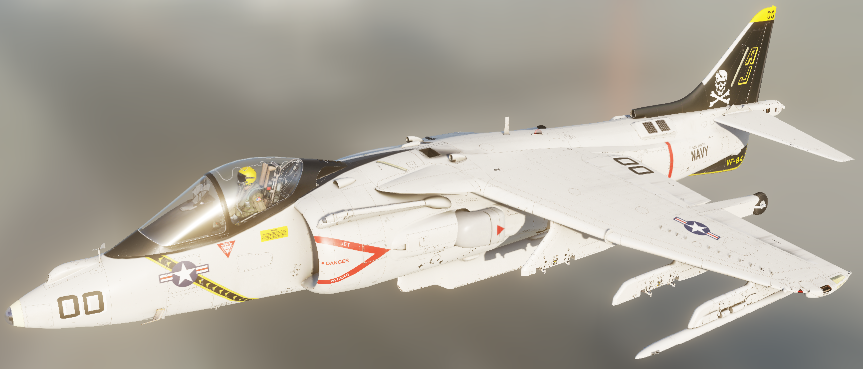 "Fictional skin for AV-8B N/A: ""VF-84 - 'Old' Jolly Rogers"""
