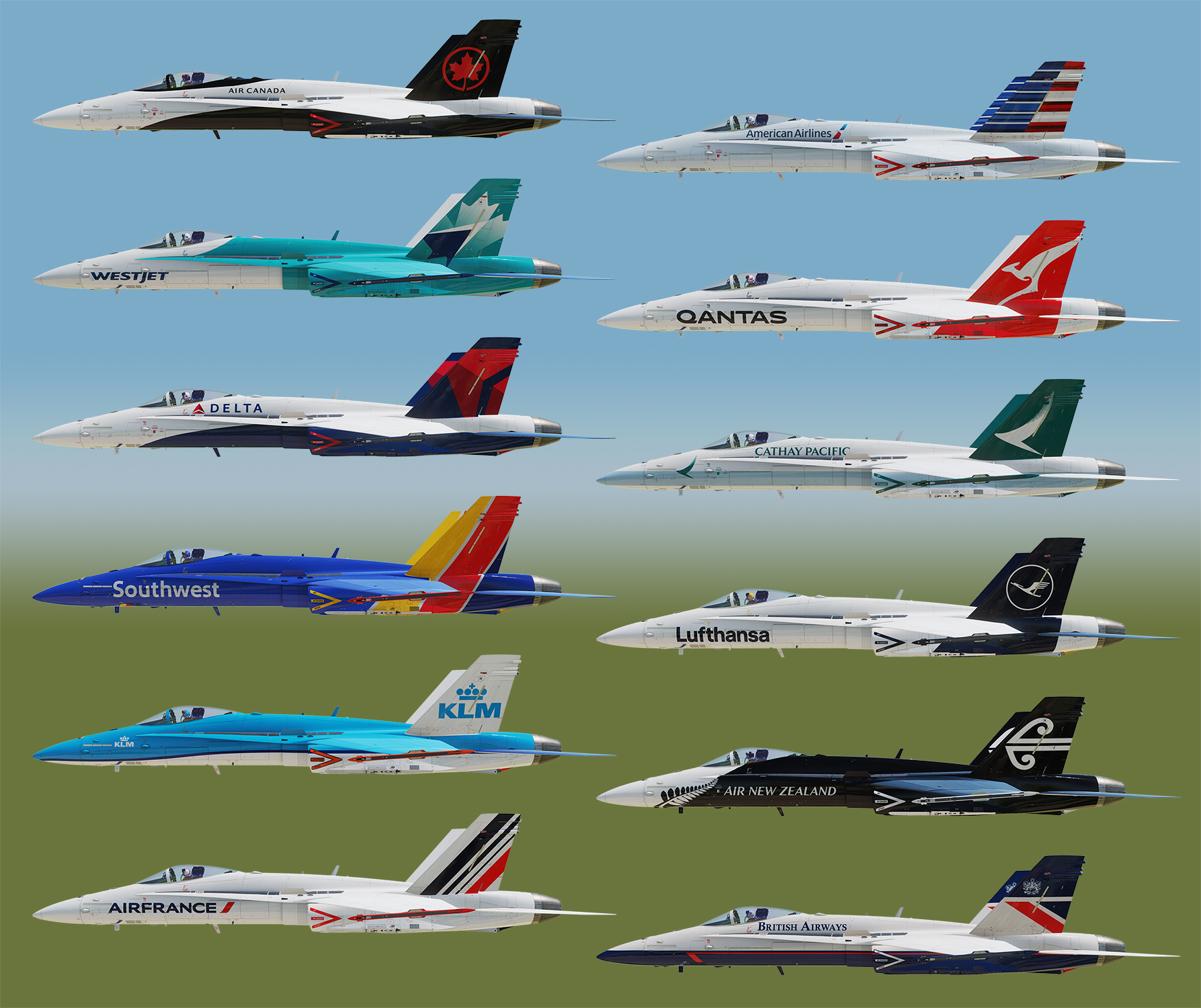 Airline Livery Master Collection F-18