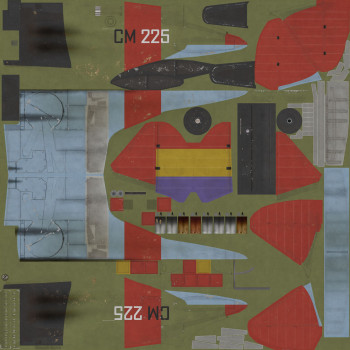 Texture template for I-16 model