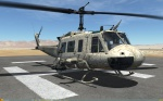 UH-1H Huey - No Markings - Dryland FRZN-LK  (Fictional)