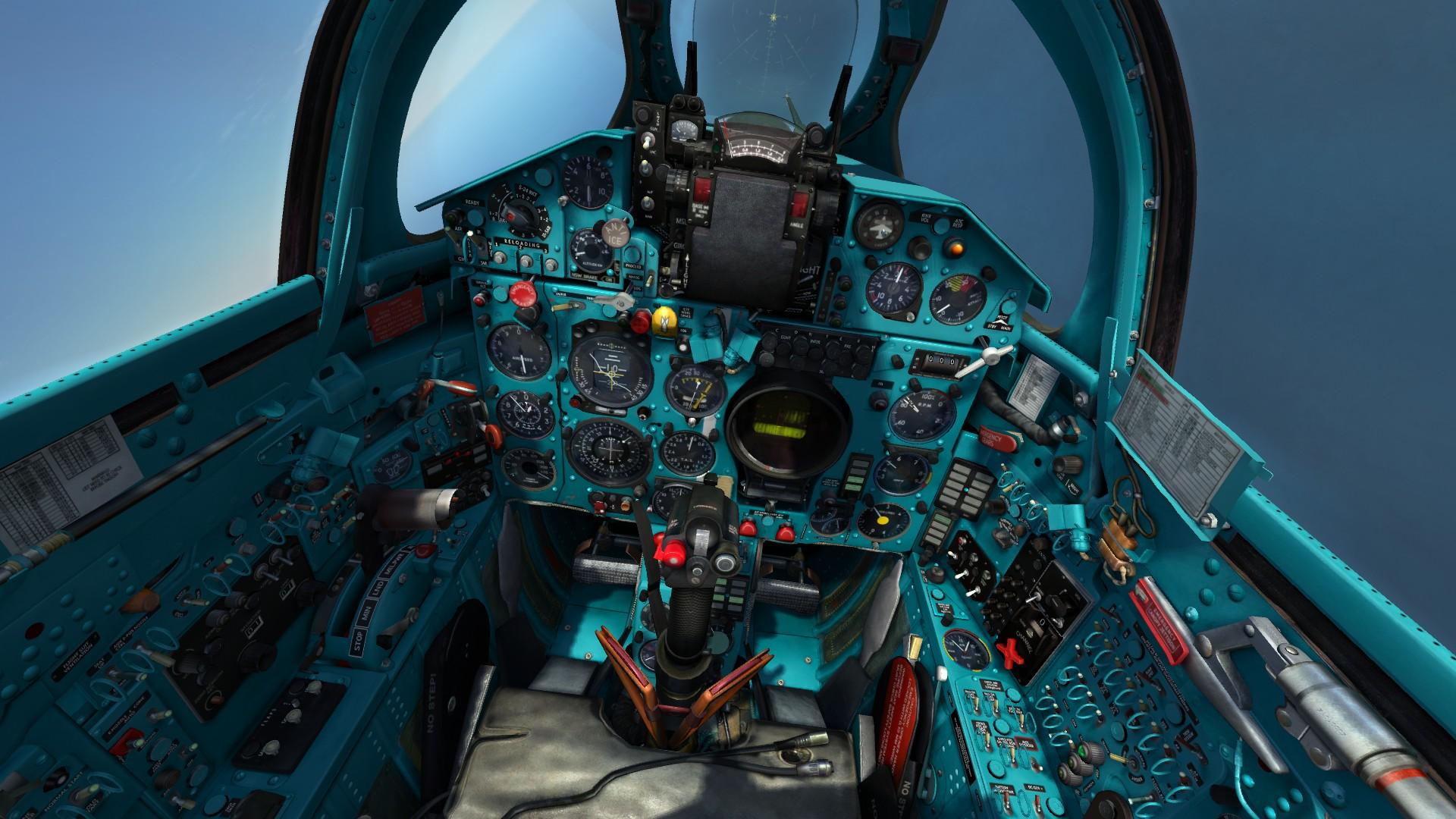 MiG-21bis clean cockpit textures (English version)