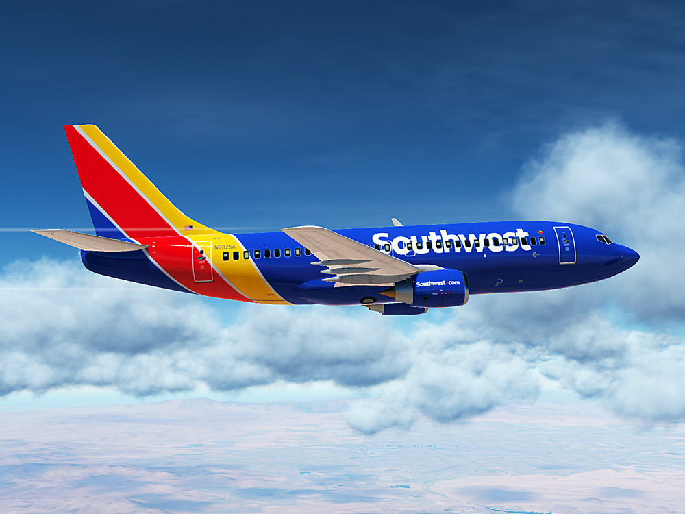 Southwest Airlines Boeing 737 (Modern Paint for Civil Aircraft Mod)