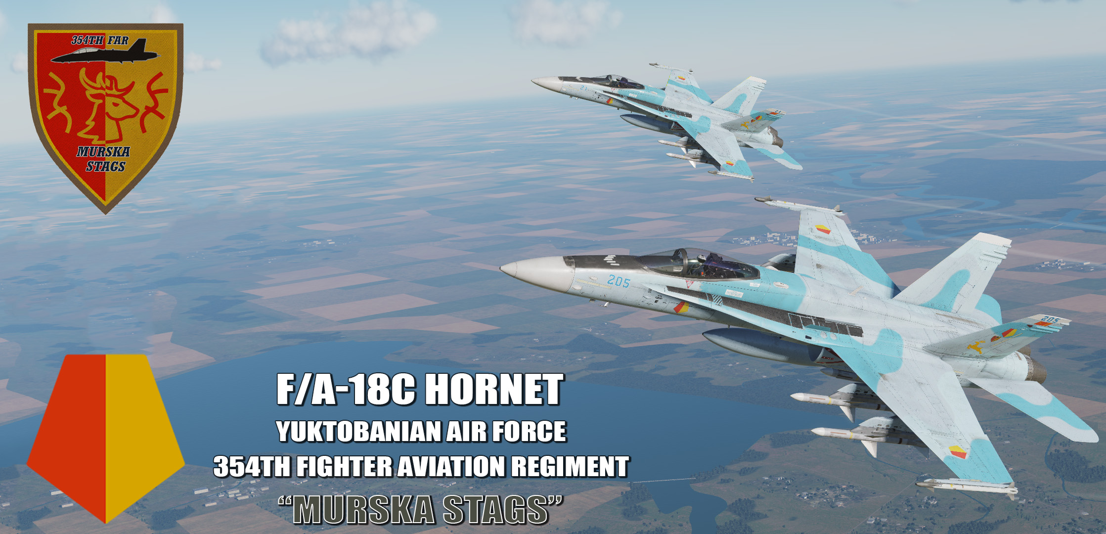 "Ace Combat - Yuktobanian Air Force 354th Fighter Aviation Regiment ""Murska Stags"" F/A-18C Hornet"
