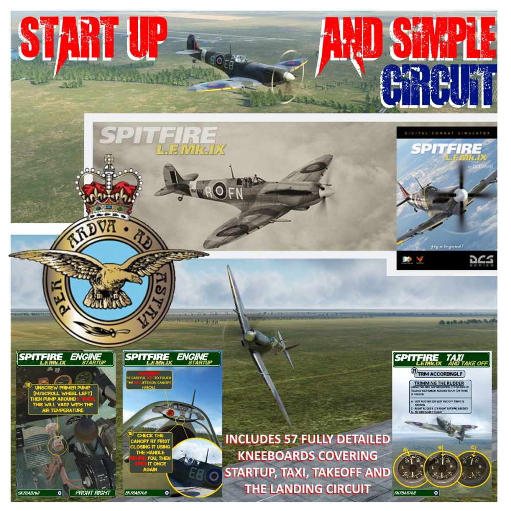 Spitfire L.F. Mk.IX Training Flight with over 60 custom mission-specific Kneeboards v1.01