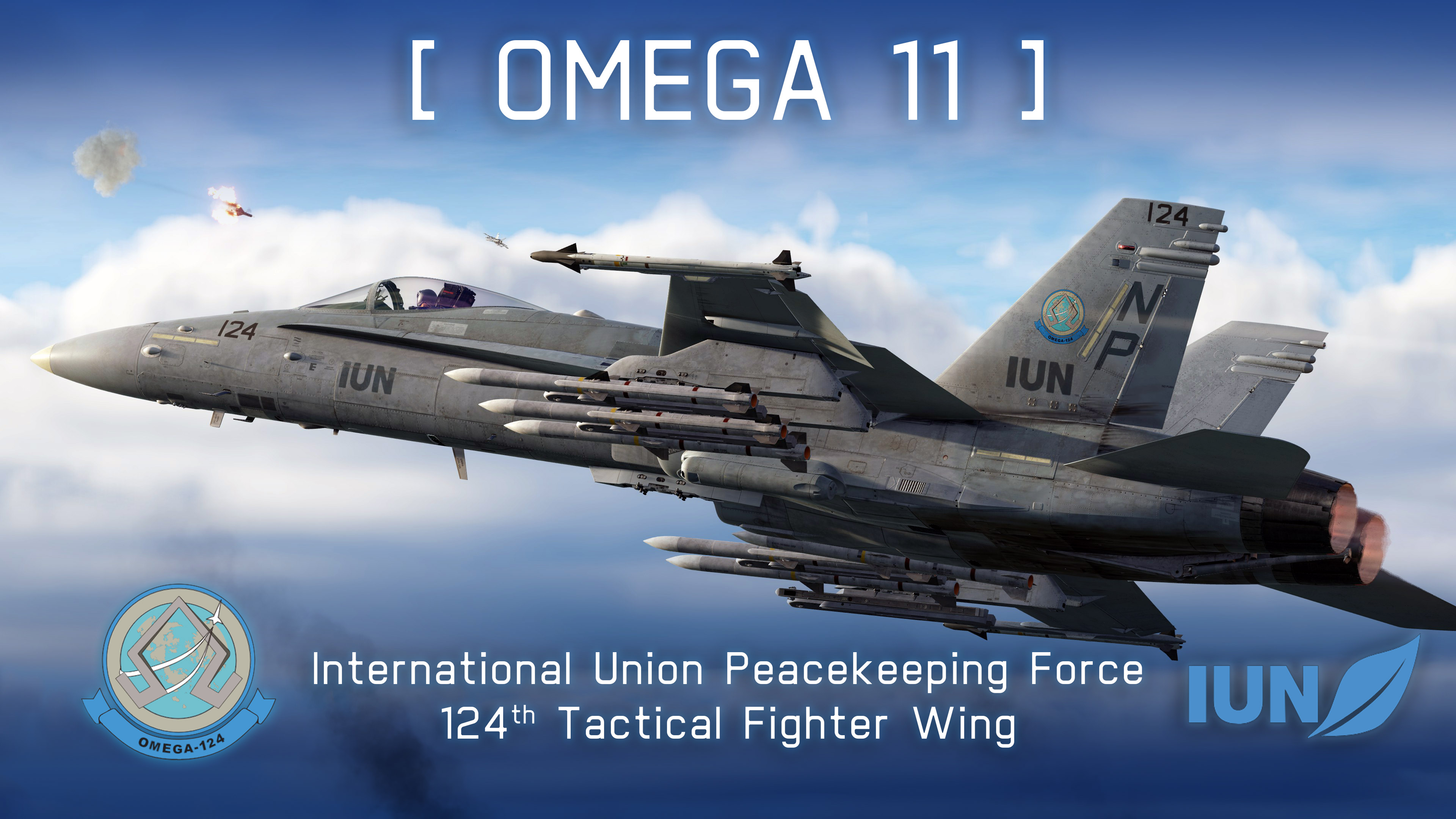 """Omega 11"", F/A-18C, 124th Tactical Fighter Wing, IUN-PKF (Ace Combat 7)"