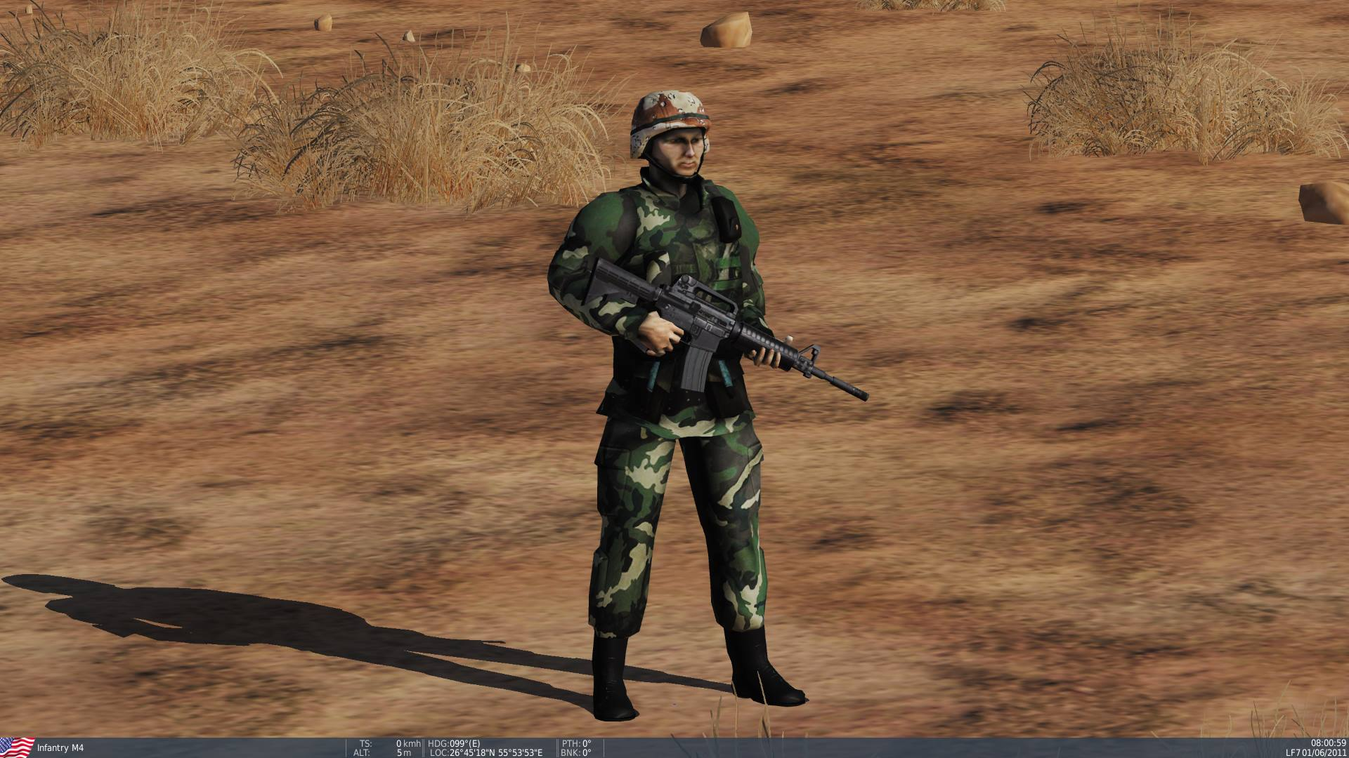 Desert & MOPP suit M-4 Soldier