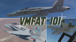 F/A-18C Hornet Lot 20, VMFAT-101 Sharpshooters CAG & Line
