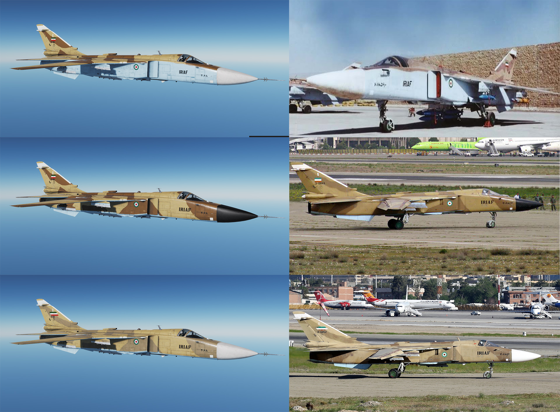 IRAN AIR FORCE (IRIAF)  SU-24M/MK Old Skins Pack [Generic]
