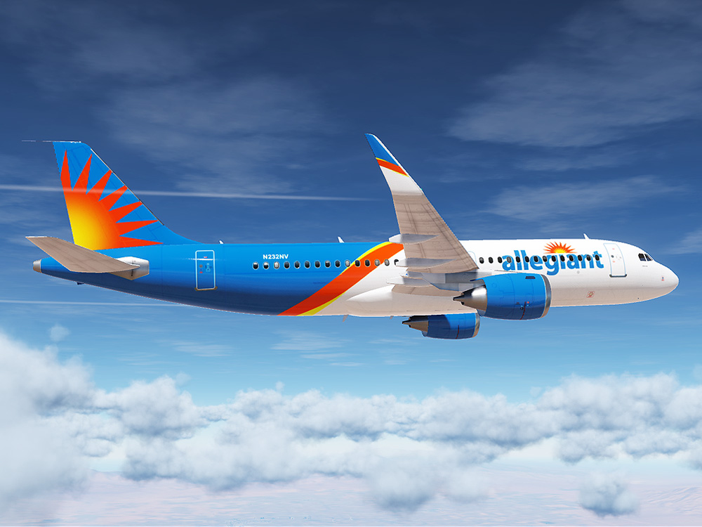 Allegiant Airlines Airbus A320 (Modern Paint for Civil Aircraft Mod)