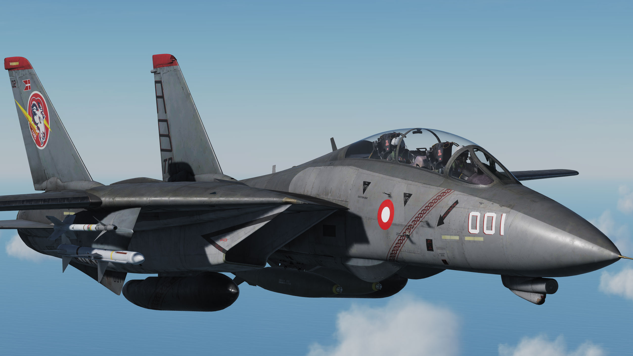 Danish fictive RDAF skin for the F-14 Tomcat