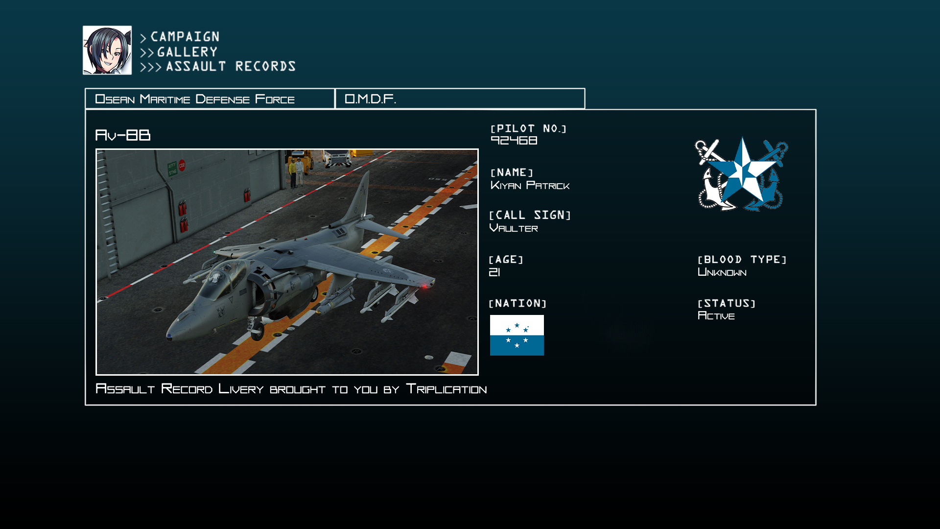Ace Combat - Av-8B: Osean Maritime Defense Force