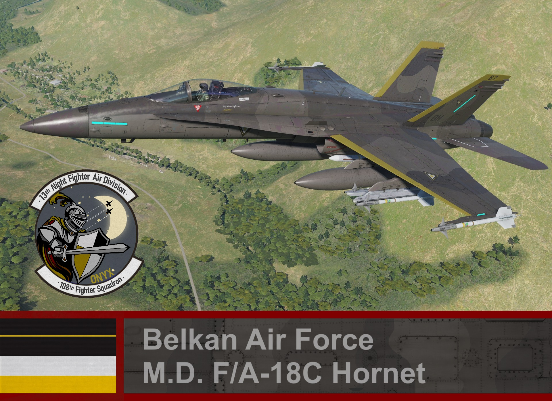 Belkan Air Force F/A-18C Hornet - Ace Combat Zero (108th FS) Maj. Werner Hoffmann