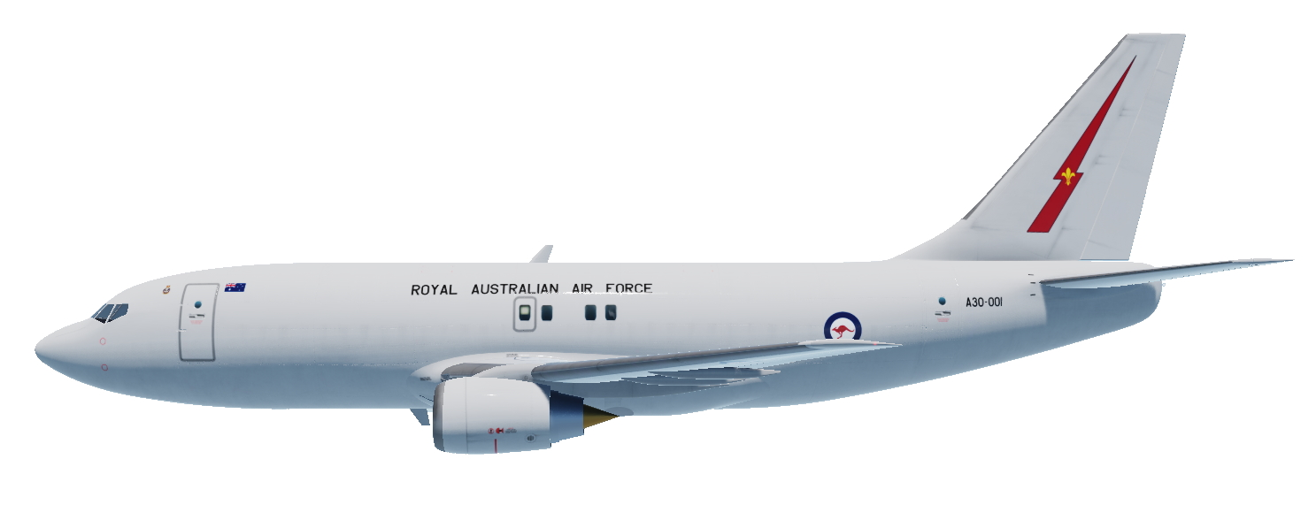 Royal Australian Air Force B737 Pack Civil Aircraft Mod