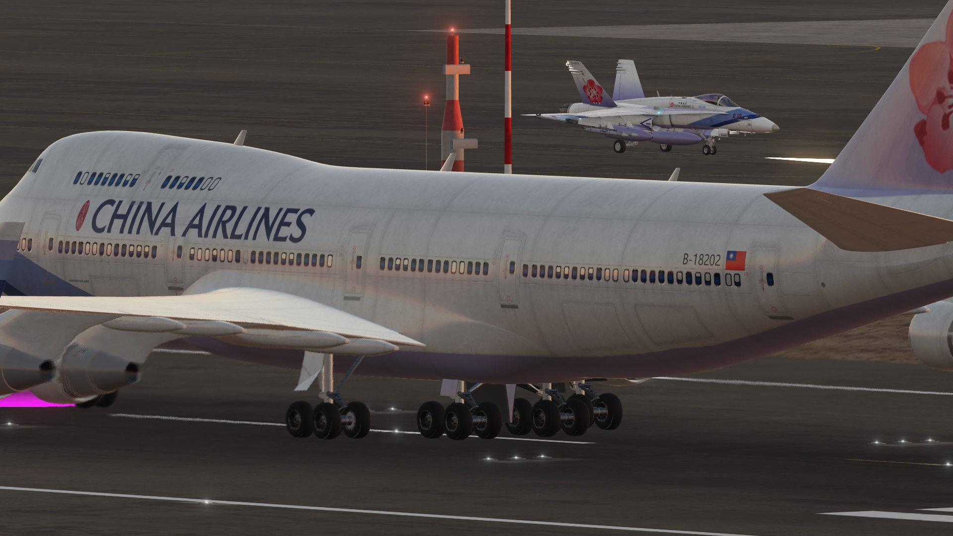 Civil Aircraft Mod Boeing 747-400 China Airlines Livery v1.1