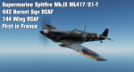 "Supermarine Spitfire Mk.IX ML417/21-T 443 ""Hornet"" Sqn RCAF/144 Wing RCAF ""First in France"""