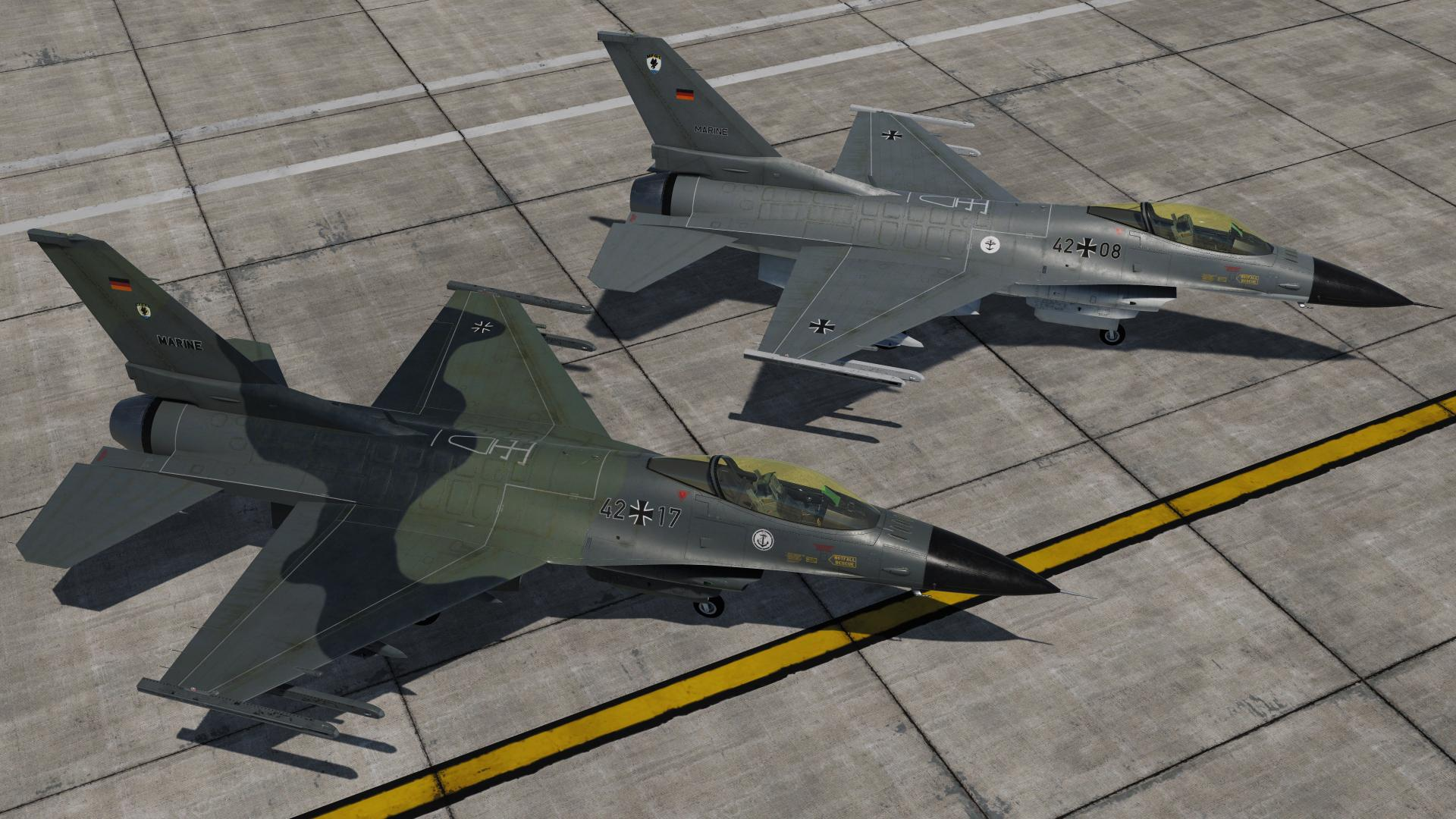 German Navy F-16C Skin Pack  (fictional)
