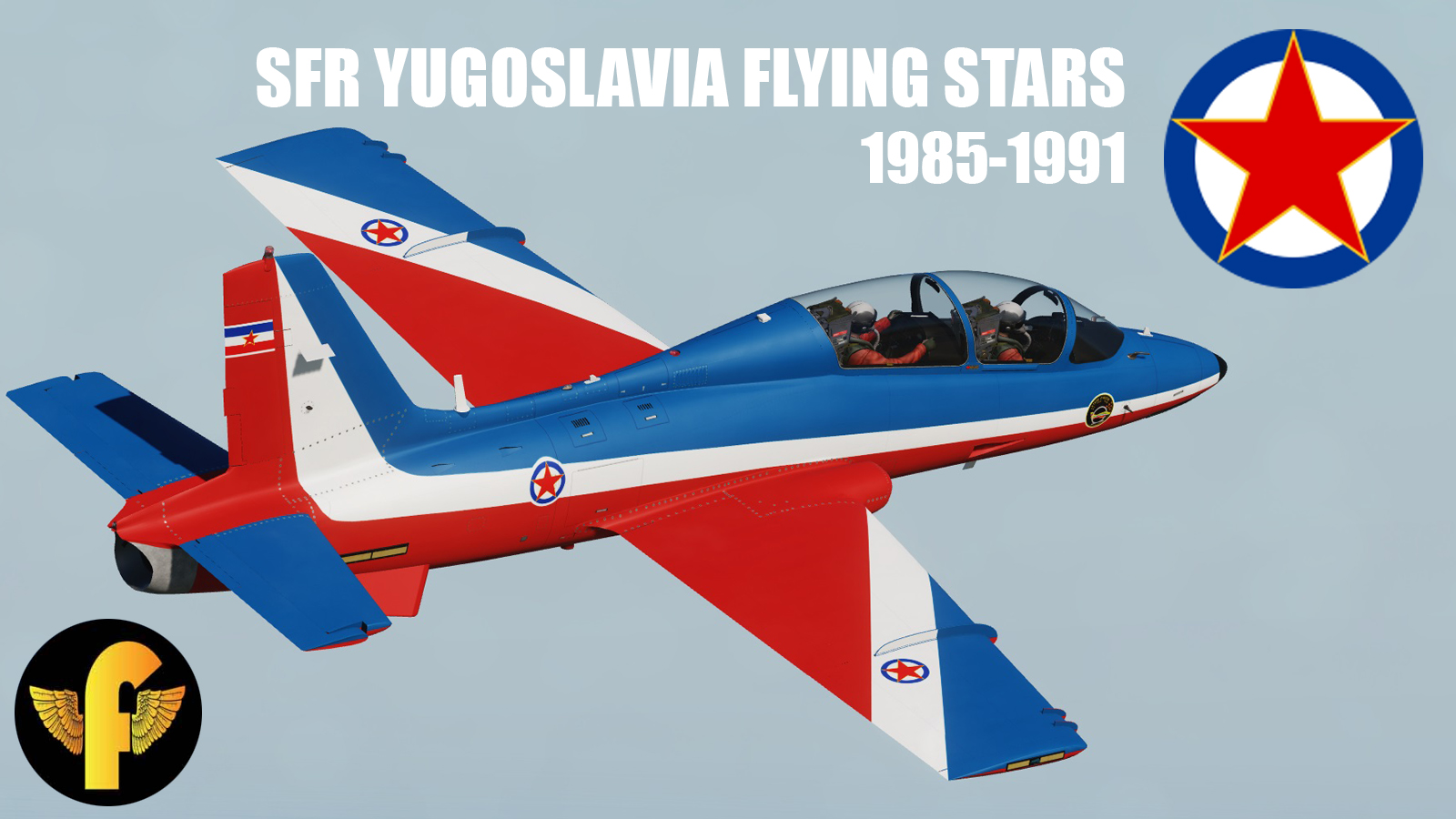 """Flying Stars"" Aerobatic Team, Socialist FR Yugoslavia Air Force 1985 - 1991"