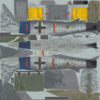 Texture template for Fw-190A8 model
