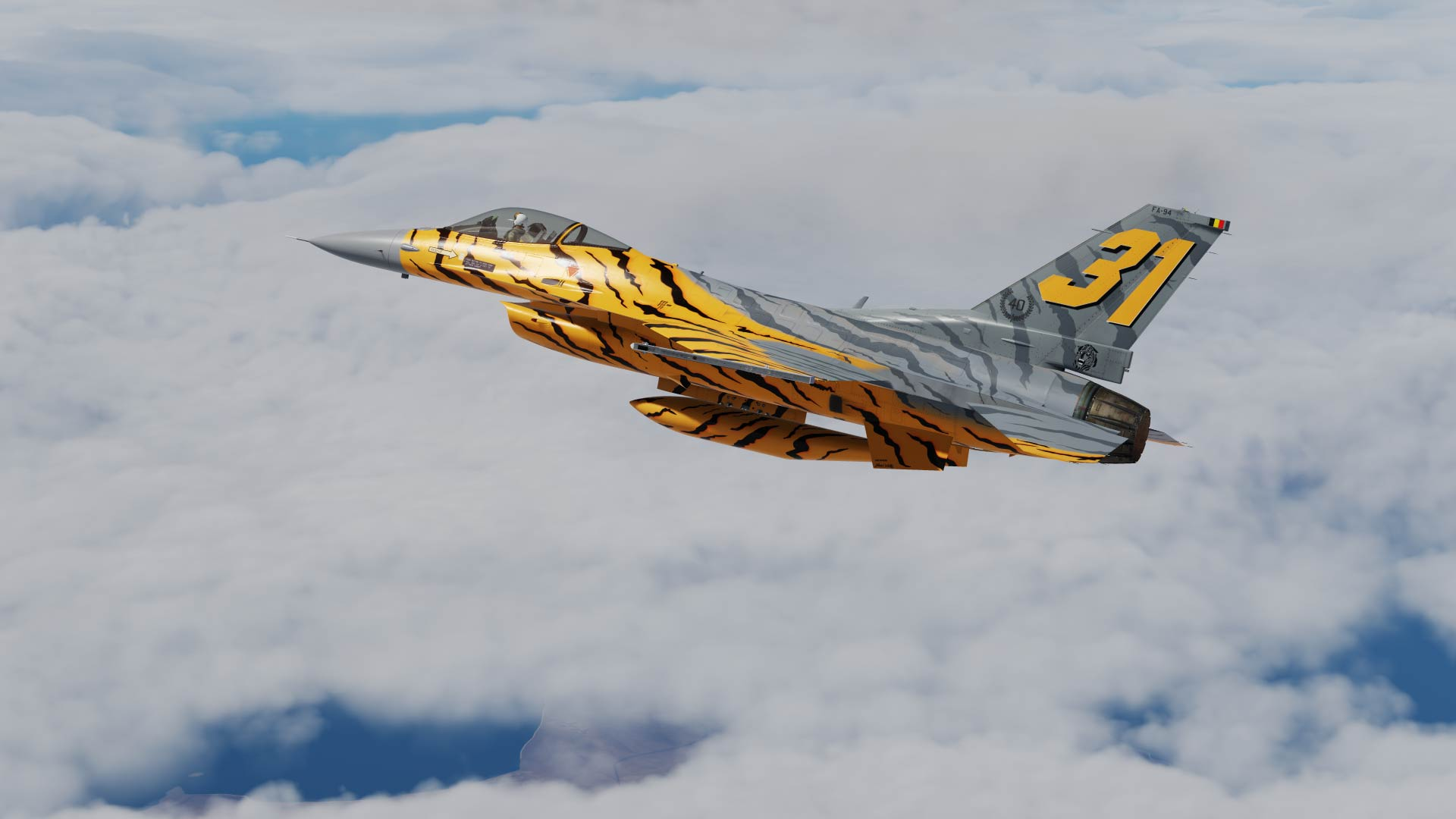 F-16 Belgian Air Force 1991 Tiger NTM V2.0 OVERHAULED UPDATE