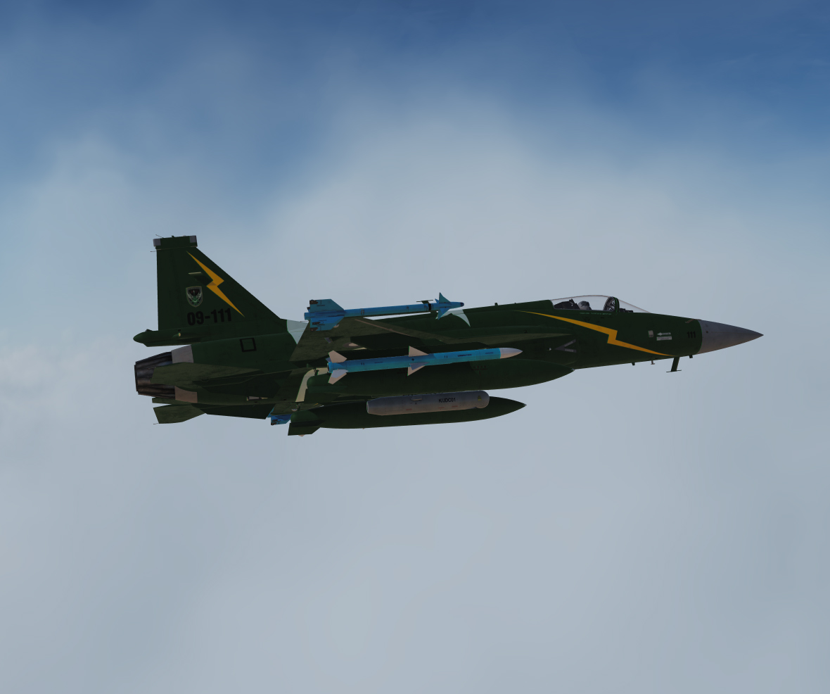 JF-17 Pakistan Airforce Thunder Demo Team Livery Update