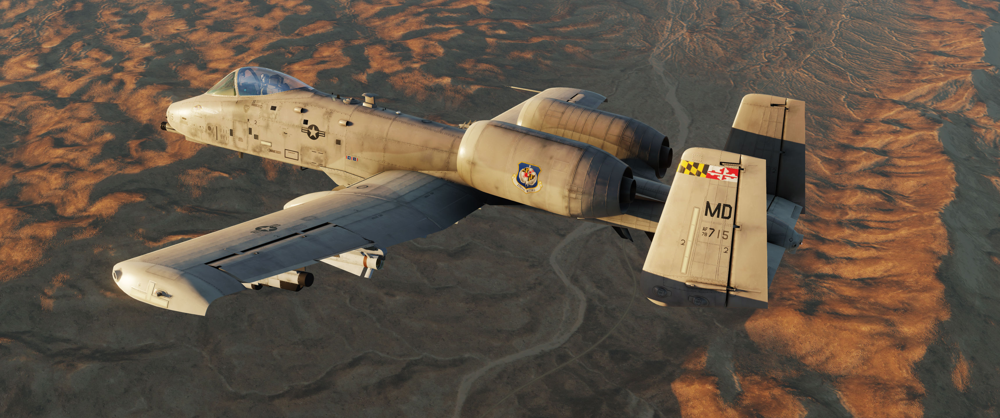 A-10C II 175th Wing Air National Guard désert v1.3
