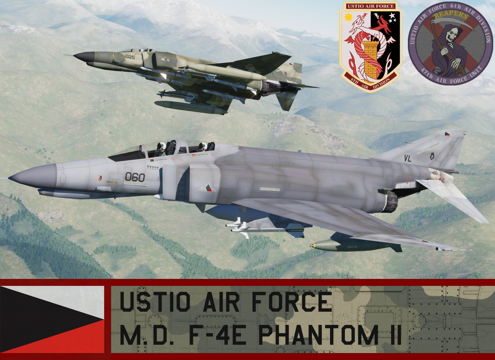 Ustio Air Force F-4E Phantom II - Ace Combat Zero (47th AFU)