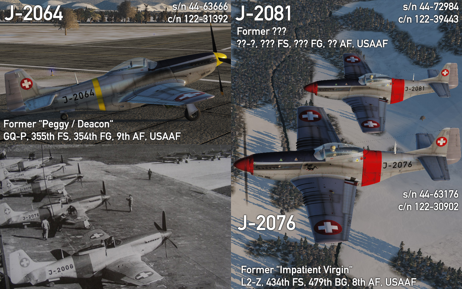 P-51D / TF-51D Swiss Air Force Pack 4.0 - Wargame identification