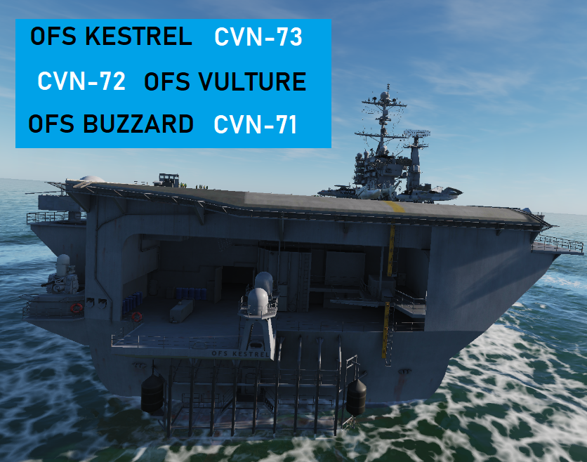 Osean Super-carriers OFS Kestrel, OFS Vulture, and OFS Buzzard