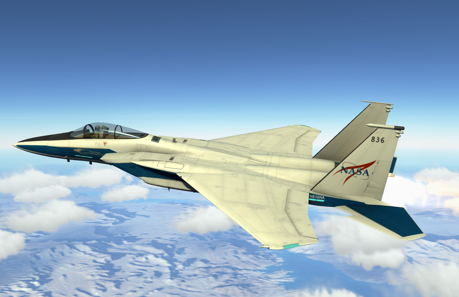 F-15C: NASA / Armstrong Flight Research Center Livery