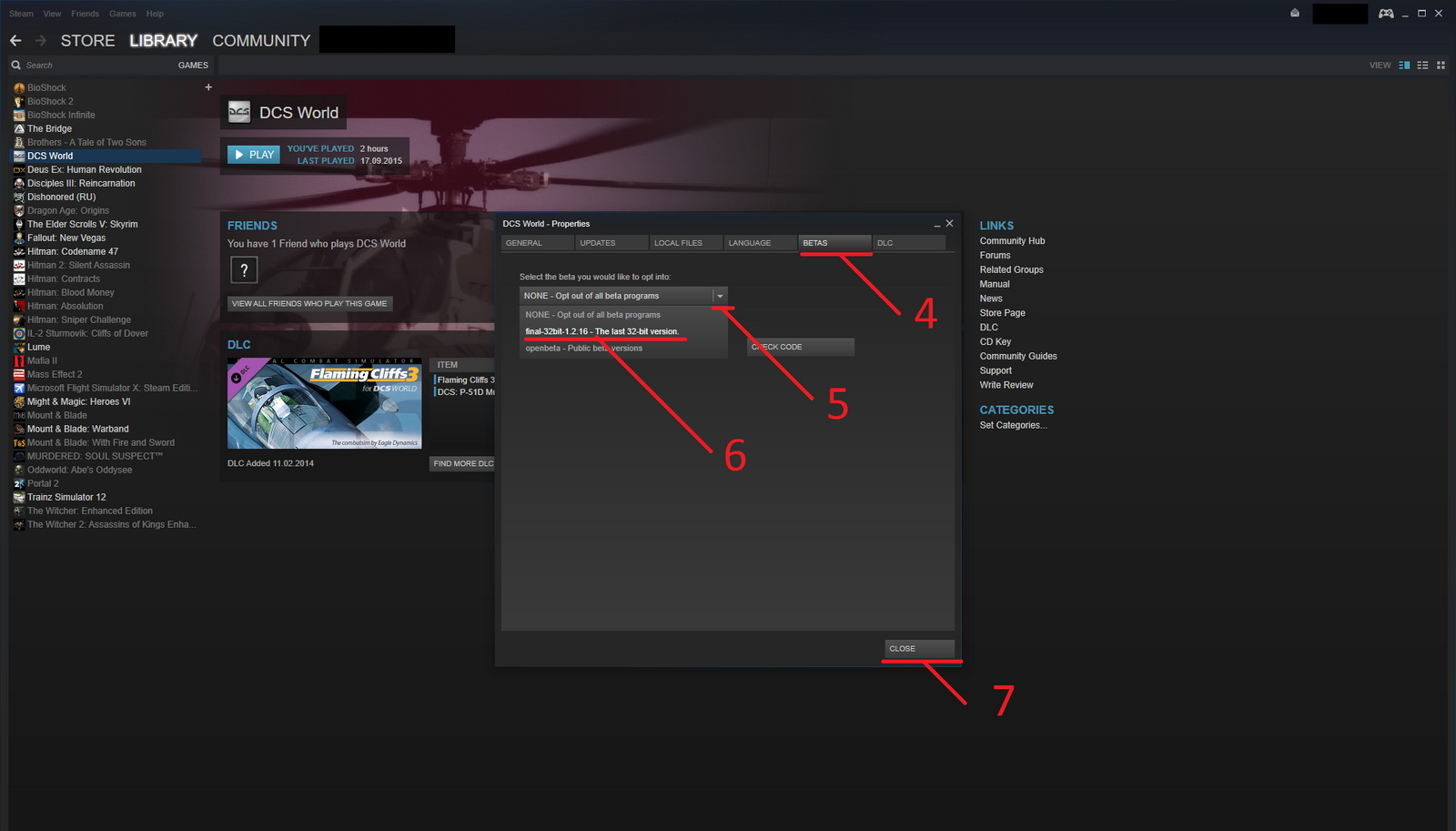 For Steam users with 32-bit OS versions